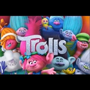 Trolls backdrop 5x3ft